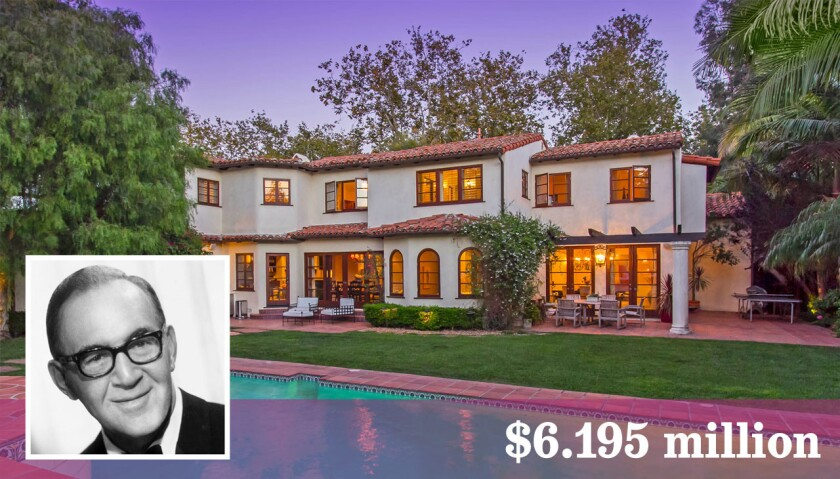 """The onetime home of """"King of Swing"""" Benny Goodman is for sale in Pacific Palisades at $6.195 million."""