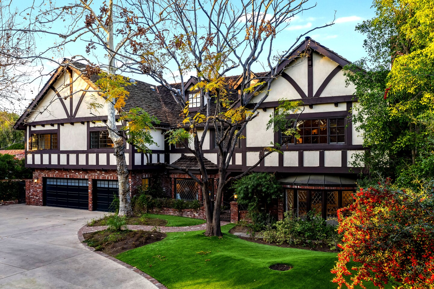 """Criminal Minds"" star Joe Mantegna is asking $4.195 million for his Tudor-style home in Toluca Lake. Owned by the actor for nearly three decades, the two-story house features exposed brickwork, half-timbering and leaded glass windows. A great room with beamed ceilings holds a pub-style bar, billiards area and screening room."