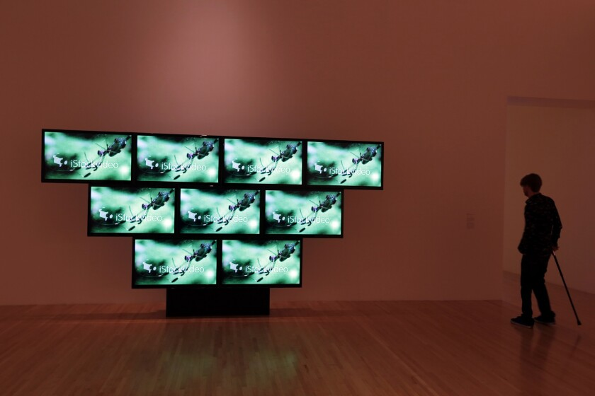 Elastic Tango 2010 Nine-channel video installation (color, sound) on display at the Museum of Contemporary Art in Los Angeles in March. MOCA participated in the study about the diversity of art museum staffs.