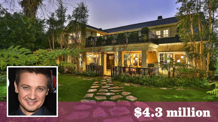 Jeremy Renner has sold the renovated house in Hollywood at $4.3 million.