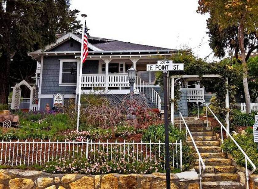 House of Another Tyme Bed & Breakfast in Arroyo Grande, Calif., has three guest rooms and Hannah, said to be a friendly ghost.