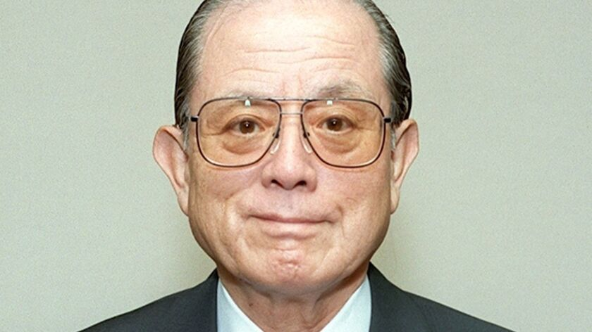 "Masaya Nakamura, known as the ""Father of 'Pac-Man,'"" shown here in Tokyo in 1997."