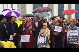 Community leaders rally in solidarity with Muslim community