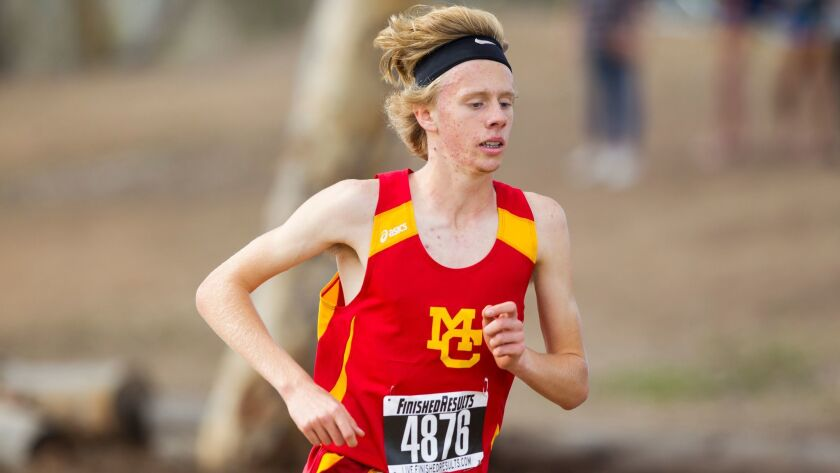 Mt. Carmel runner Sam Boone had the fastest time of the day, covering 3.04 miles in 15:51 to win the San Diego Section Division II race at Morley Field.