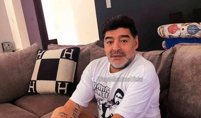 Diego Armando Maradona compartió esta foto en sus redes sociales para hablar de su presente.