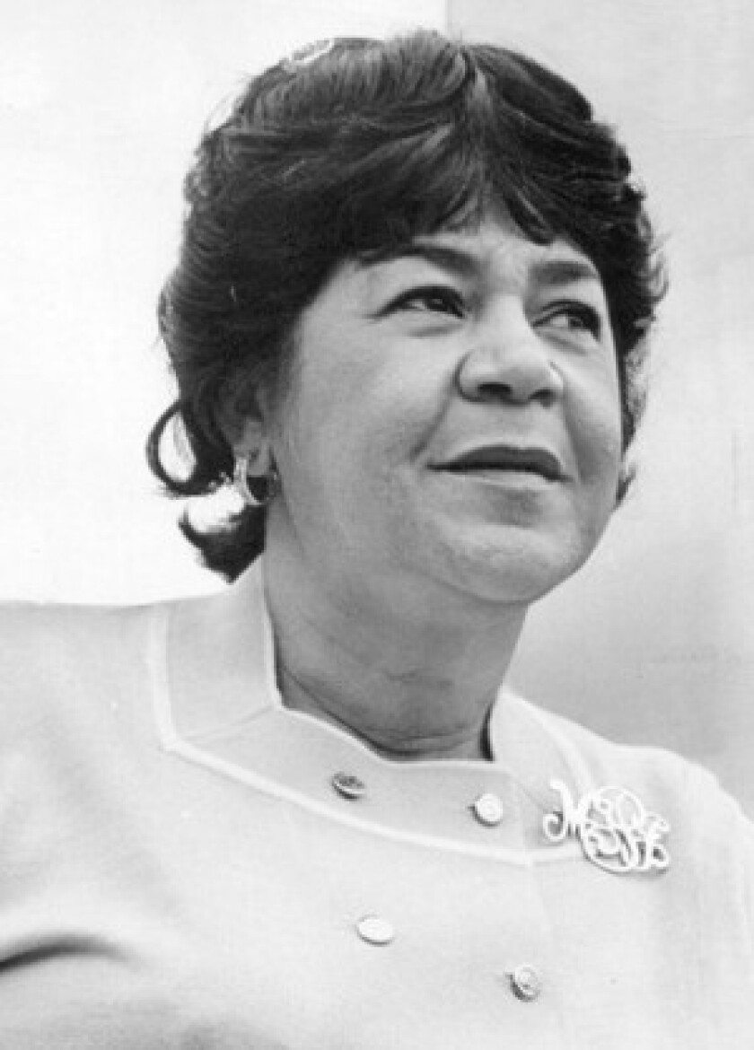 """Mayor Sam Yorty appointed Marguerite Justice, known to friends as """"Mama J,"""" to the L.A. Police Commission in 1971. At the time she said that women could bring greater sensitivity to police oversight."""