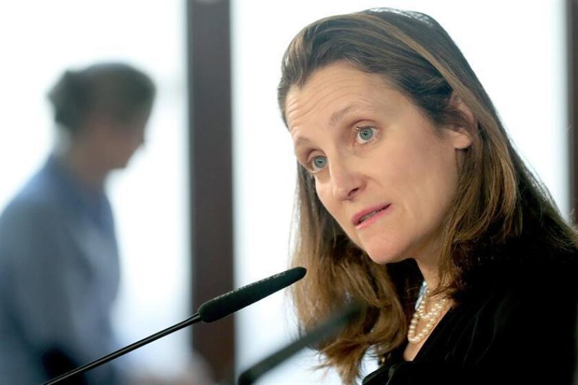 Canadian Foreign Minister Chrystia Freeland. EFE/EPA/FILE