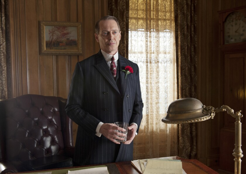 "Steve Buscemi in a scene from HBO's ""Boardwalk Empire."""