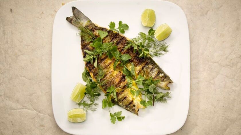 Culinary SOS: Cassia's whole grilled branzino.
