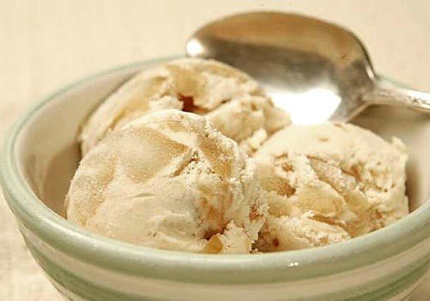 Enjoy apples by adding them to ice cream.