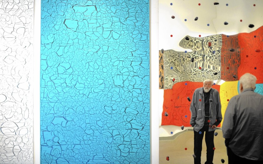 L.A. art-world fixture Ed Moses, 90, prepares nonstop for a new survey show at Bergamot Station