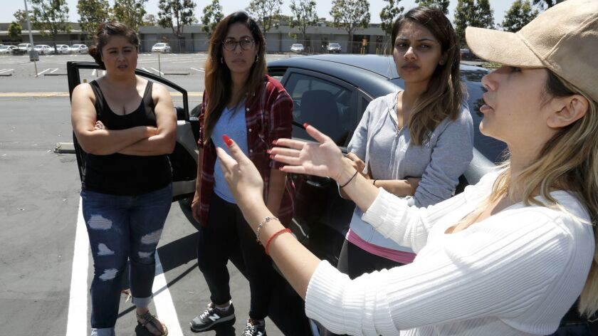 Law students, from left, Victoria Lucero, Ruth Arellano, Amrit Nahal and Kathy Iravani stand in the