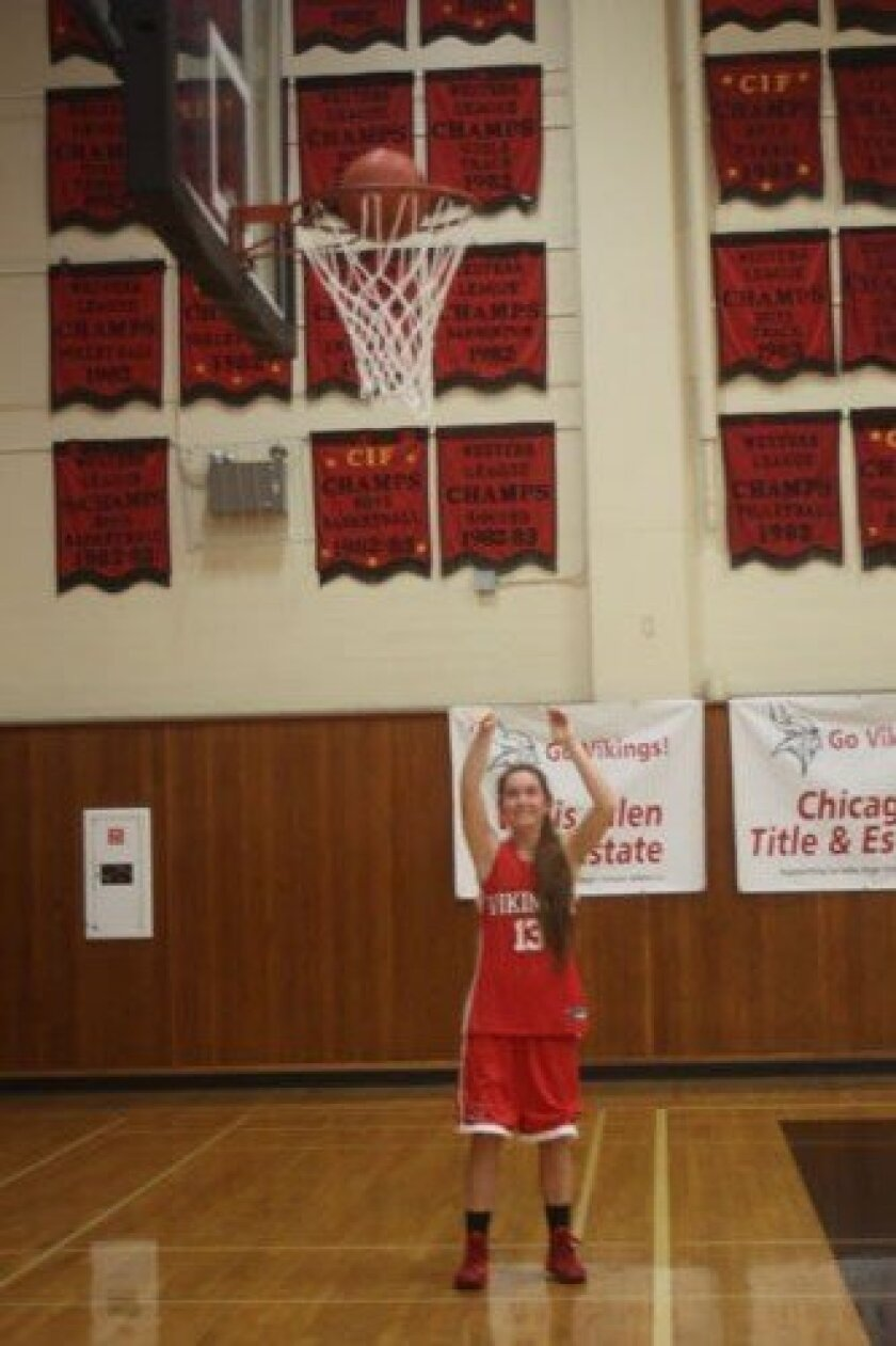 Practice has made perfect for Sphia Sowers, who is the third La Jolla High School player in history to score more than 1,000 career points. Ashley Mackin