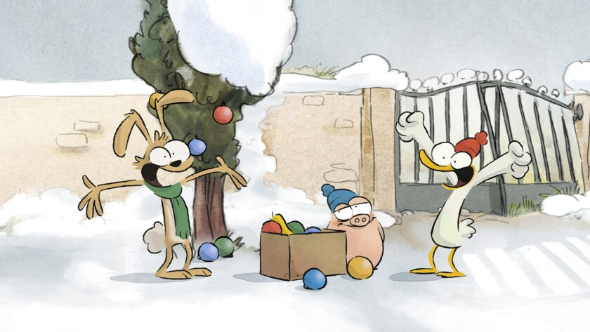 """A scene from the animated movie """"The The Big Bad Fox and Other Tales."""" Credit: GKIDS"""