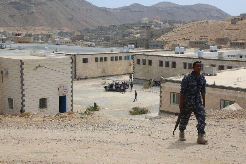 Suspected Al Qaeda members are held at the refurbished central prison in Mukalla, Yemen.
