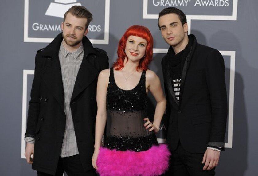Jeremy Davis, Hayley Williams, Taylor York  of Paramore.