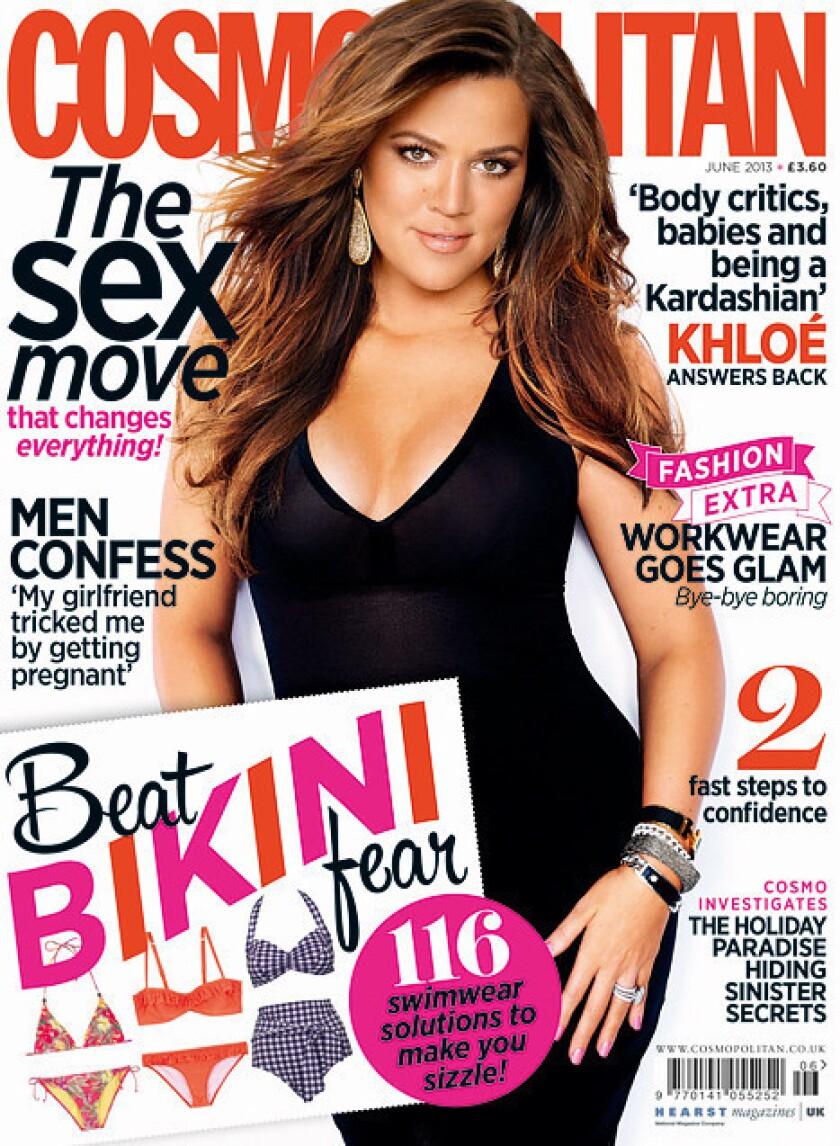 Khloe Kardashian on Cosmo UK's June 2013 issue.