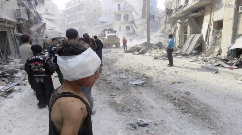Fuerzas del régimen sirio tomaron hoy el control de las infraviviendas del barrio de Masaken Hanano, en el este de Alepo, después de días de intensos bombardeos sobre la zona.