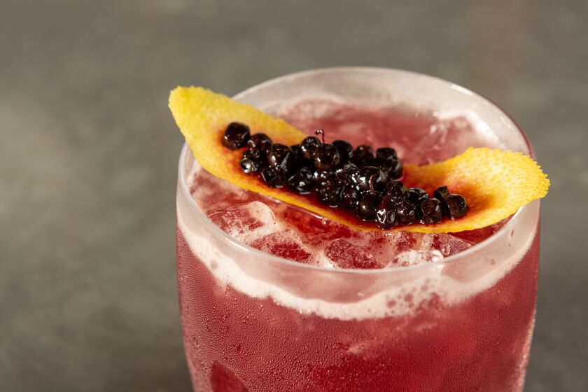 Huckleberry Bourbon is available at Et Voilà! French Bistro in North Park.