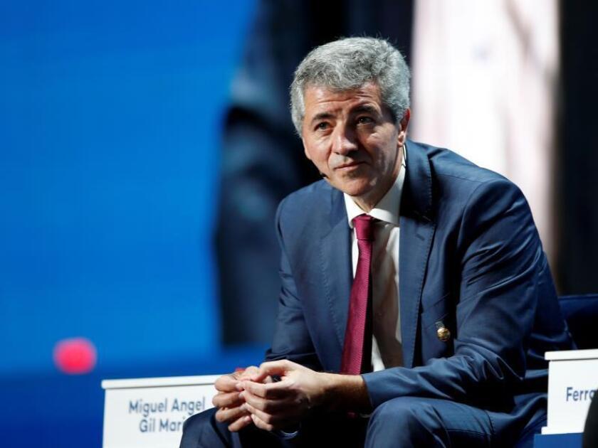 El consejero delegado del Atlético de Madrid, Miguel Angel Gil. EFE/ Ali Haider/Archivo