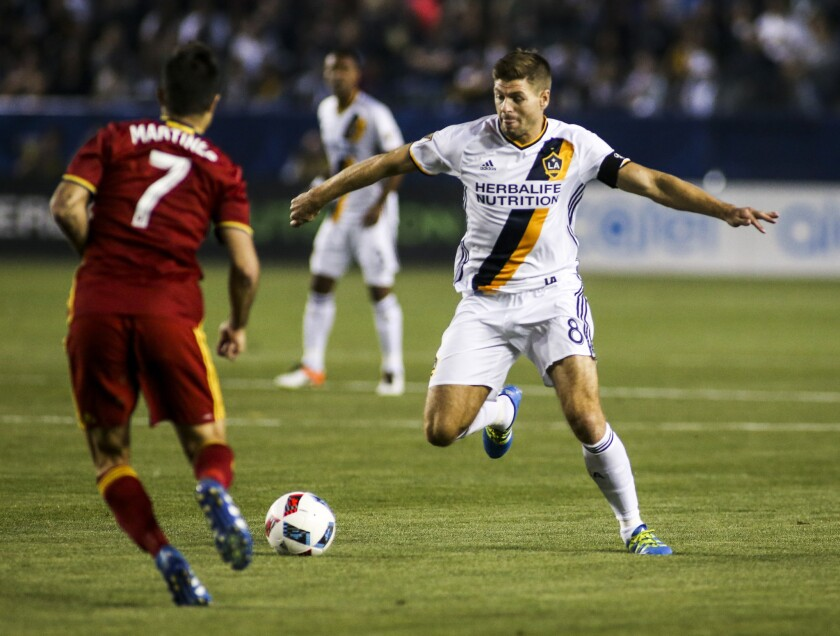 After an adjustment period, Steven Gerrard has found his place with the Galaxy