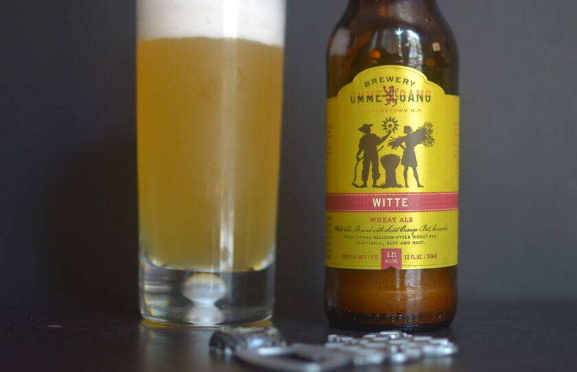 Wheat beers, like this one from Brewery Ommegang, are almost always cloudy.