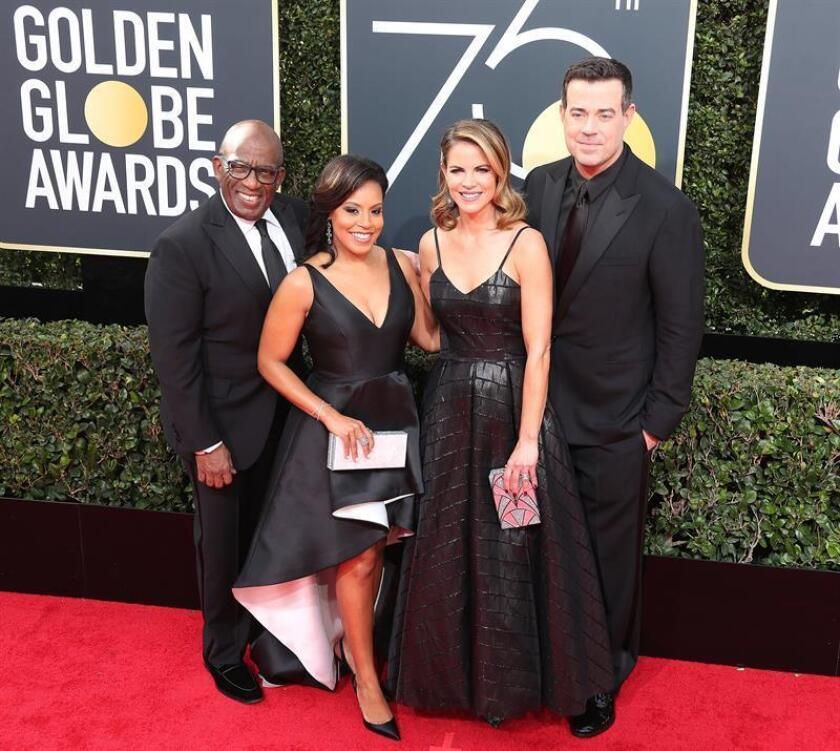(L-R) Television personalites Al Roker, Sheinelle Jones, Natalie Morales and Carson Daly arrive for the 75th annual Golden Globe Awards ceremony at the Beverly Hilton Hotel in Beverly Hills, California, USA, 07 January 2018. EFE