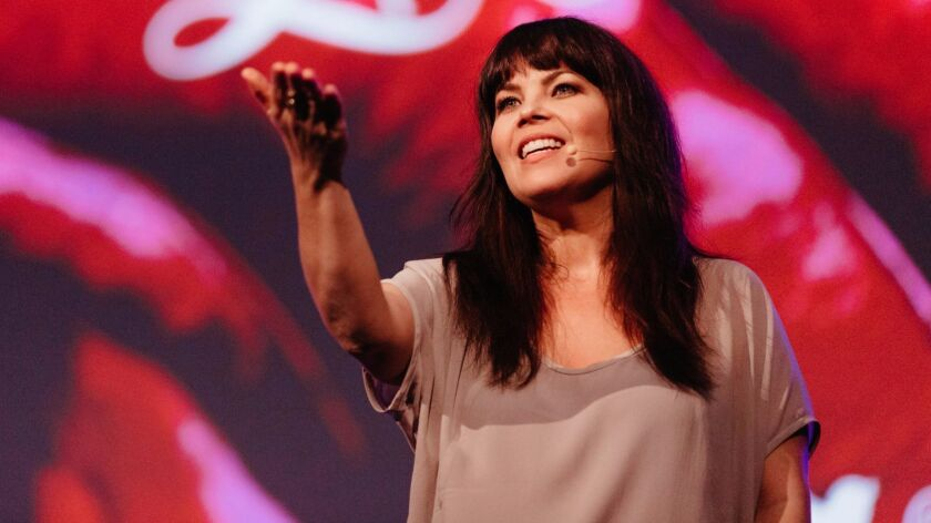 Author, motivational speaker Danielle LaPorte talking in the Wake Up Project tour in Sydney Australi