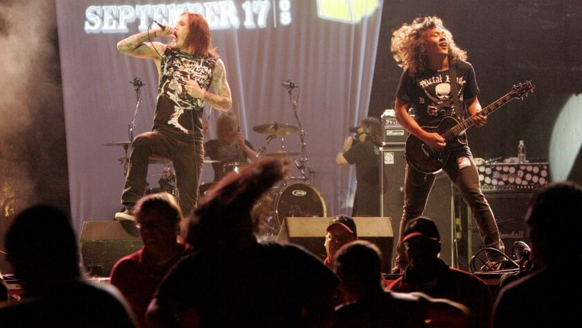 """September 17, 2008, Alpine, CA._The 2008 San Diego Music Awards at Viejas. """"As I Lay Dying"""" perform"""
