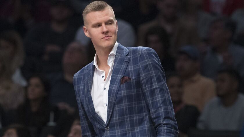 Kristaps Porzingis continues to rehab from surgery to repair a torn ligament in his left knee.