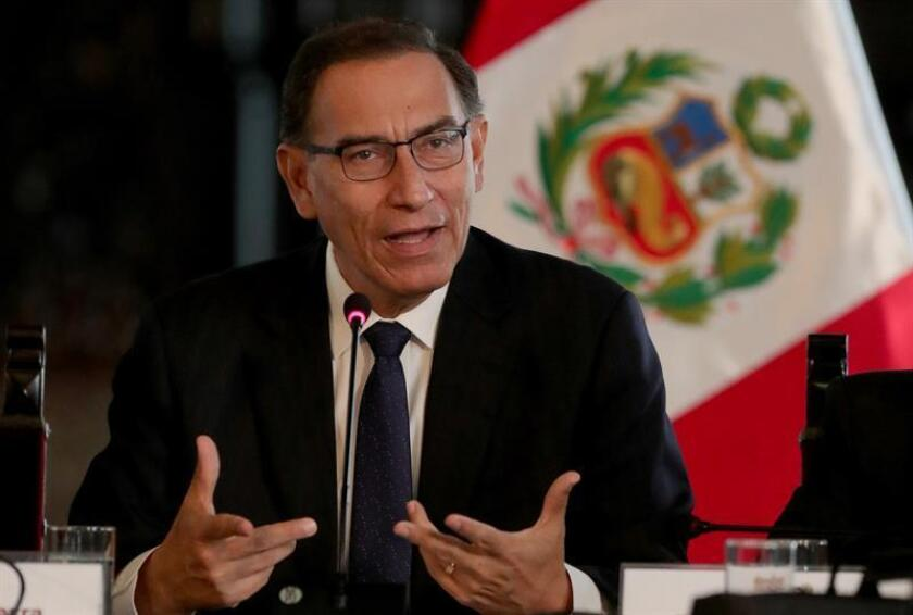 El presidente de Perú, Martín Vizcarra. EFE/Archivo