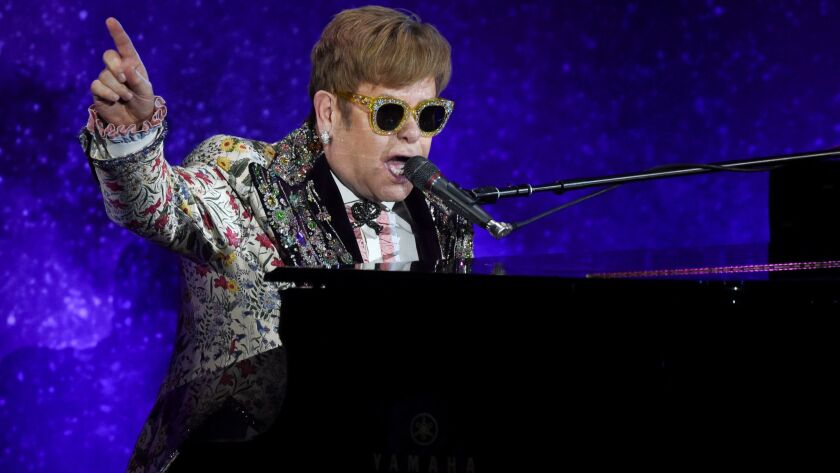 Elton John performs before announcing his final tour.