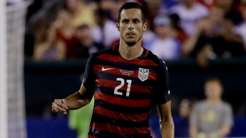 The United States' Matt Hedges, in action during a CONCACAF Gold Cup quarterfinal match against El S