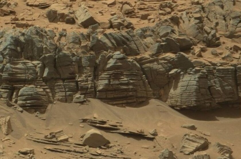 Many people have said they see what looks like a giant crab monster in this NASA photo of the Martian surface.