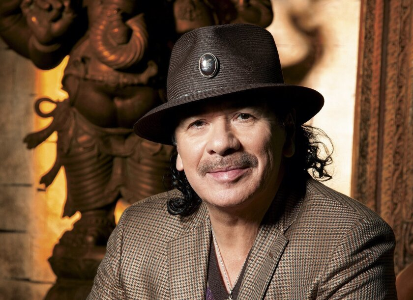 Former Tijuana guitarist Carlos Santana and the band that bears his name will perform June 23 in Chula Vista at North Island Credit Union Amphitheatre.