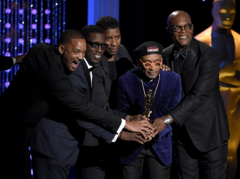 Spike Lee receives an honorary Oscar at the film academy's Governors Awards