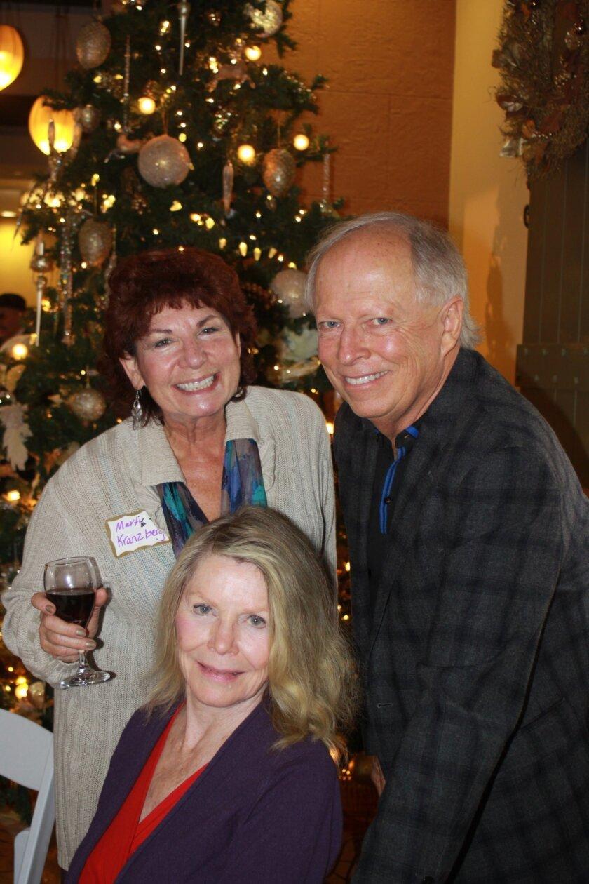 Marti Kranzberg, Craig Robison and Anita Brynolf attend Casa de Mañana's 90th anniversary party.