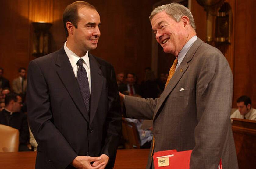 Eugene Scalia, left