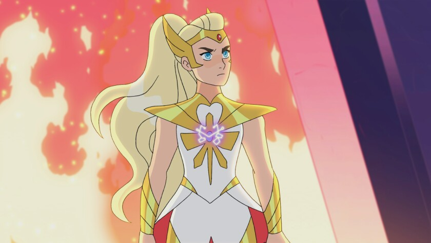 """She-Ra in an episode of """"She-Ra and the Princesses of Power."""""""