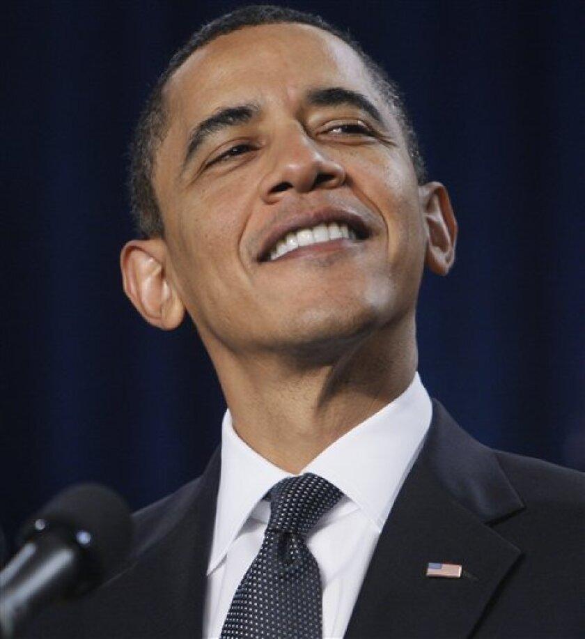 President Barack Obama speaks at Savannah Technical College in Savannah, Ga., Tuesday, March 2, 2010. (AP Photo/Charles Dharapak)