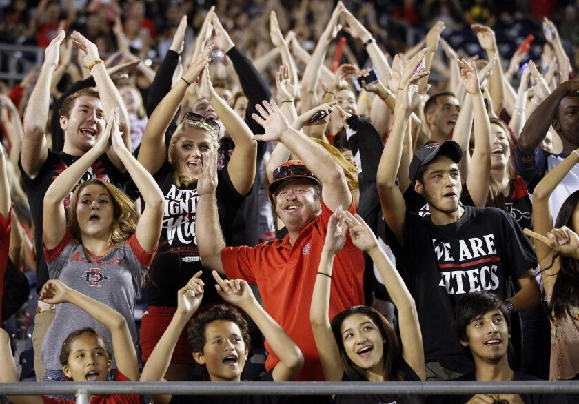 It remains to be seen if/when San Diego State football fans will be back at SDCCU Stadium.
