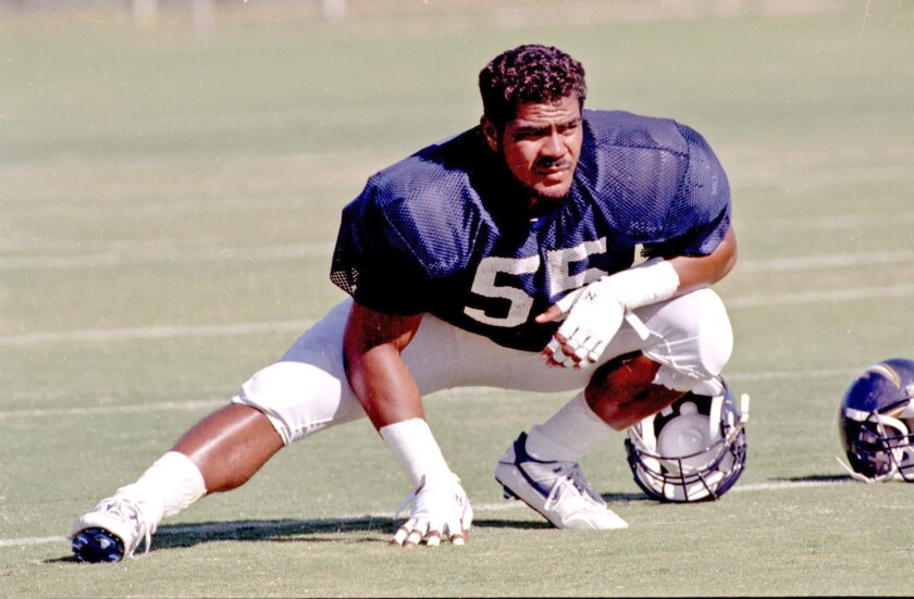 SEAU'S 1990 SEASON: It didn't take long for Seau to make his presence felt with the Chargers on and off the field. In 1990, his rookie season, he played in all 16 of San Diego's games, starting all but one. He had 85 tackles, including a sack. And many teammates say that, by the end of the season, he was already a team leader, especially among defensive players.