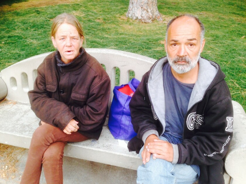 Their four months at MacArthur Park have been the hardest of Peggy Repreza and Ronald Armijo's years on the streets, they say.