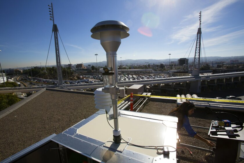 New air pollution monitor at the San Ysidro Port of Entry measures fine particulate matter up to 2.5 microns in diameter.