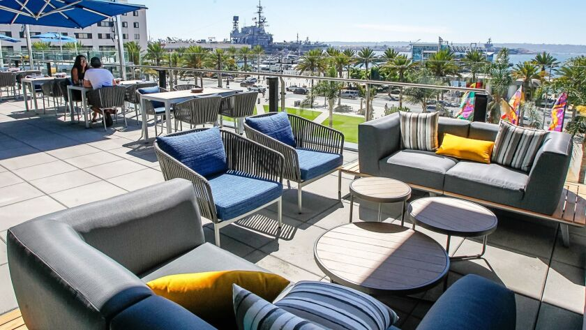 SAN DIEGO, CA Aug. 30th, 2018 | This is outdoor seating for the restaurant at the recently opened Ho