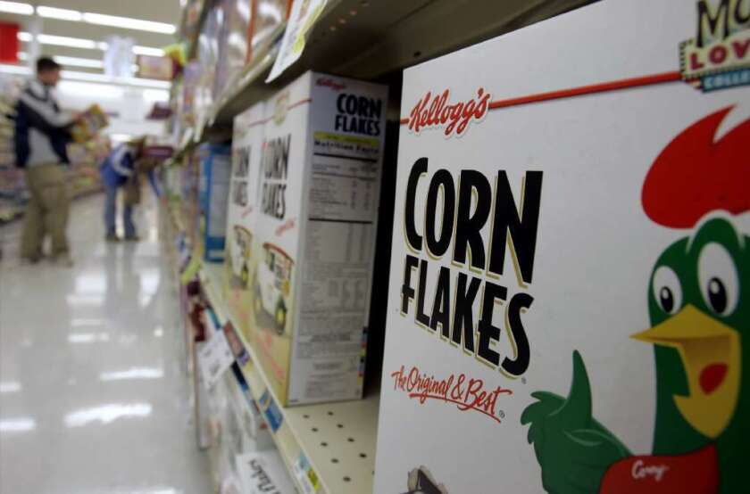 Kellogg Co. on Wednesday became the latest food giant to pledge steep cuts in carbon emissions in its supply chain.