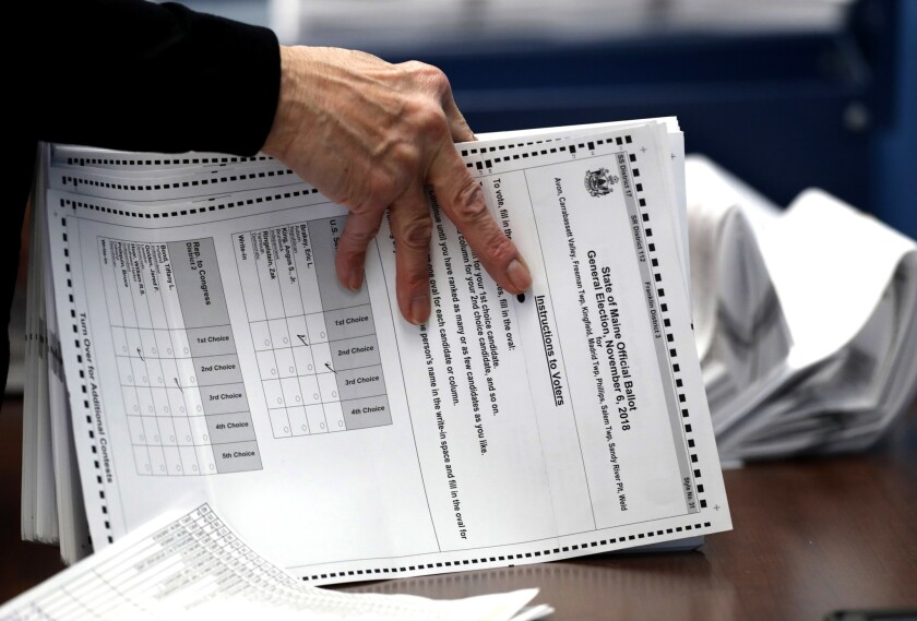 Ballots for Maine congressional election