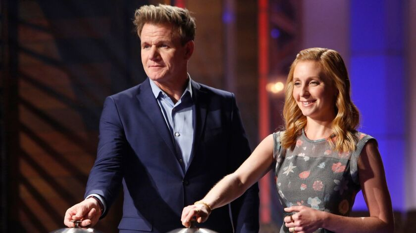 "Gordon Ramsay and Christina Tosi are judges in the Fox cooking competition ""MasterChef Junior."""