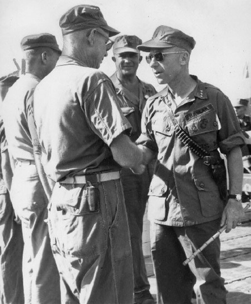 Lt. Gen. Victor H. 'Brute' Krulak, shown during the Vietnam War, at one time  commanded all Marine Corps forces in the Pacific. (Union-Tribune file photo)