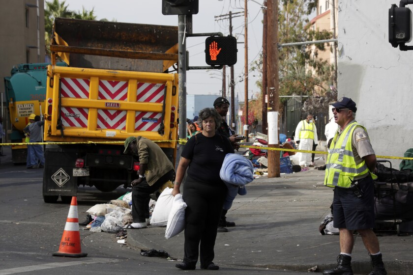 Skid row cleanup last month